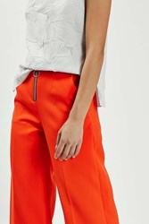 Boutique Ring Zip Wide Trouser By Tomato