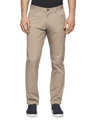 Calvin Klein Slim Fit Stretch Pants Classic Khaki