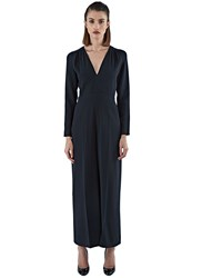 Stella Mccartney Rosie Long Sleeved Wide Leg Jumpsuit Black
