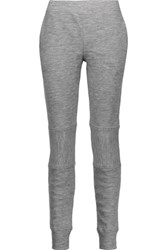 Belstaff Vic Ribbed Wool Leggings Gray