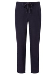 John Lewis And Co. Linen Trousers Navy