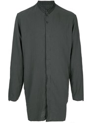 Transit Grandad Collar Tunic Shirt Green