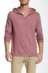 Threads 4 Thought V Neck Long Sleeve Hoodie Purple