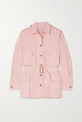 Max Mara Orfeo Belted Cotton Shirt Pink