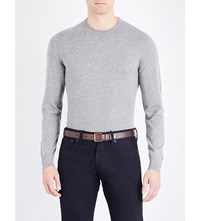 Ralph Lauren Purple Label Crewneck Knitted Cashmere Jumper Classic Light G