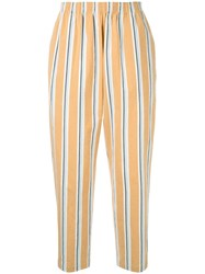 Tomorrowland Striped Straight Leg Trousers Multicolour