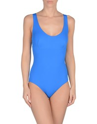 Fisico Cristina Ferrari One Piece Swimsuits Bright Blue