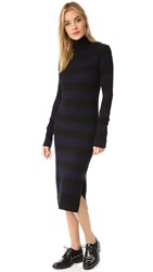Rag And Bone Careen Cashmere Sweater Dress Navy Black