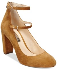Inc International Concepts Mulli Mary Jane Pumps Only At Macy's Women's Shoes Toffee