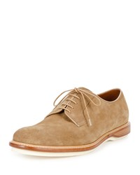 Bally Steve Suede Derby Shoe Tan Men's