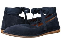 Frye Holly Ankle Tie Navy Soft Oiled Suede Women's Dress Sandals Black