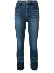 3X1 Shelter Straight Cropped Jeans Blue