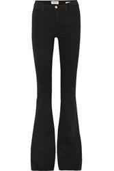 Frame Le High Flare High Rise Jeans Black