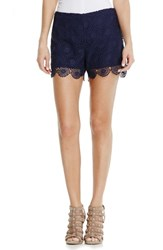 Women's Vince Camuto Embroidered Lace Shorts Evening Navy