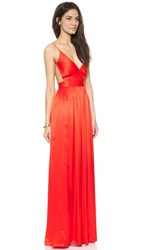 One By Contrarian Babs Bibb Maxi Dress Tangerine