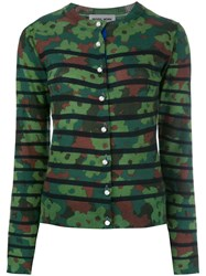 Muveil Camouflage Cardigan Green