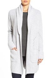 Women's Nordstrom Collection Shawl Collar Long Cashmere Cardigan