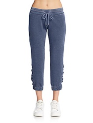 Saks Fifth Avenue Blue Cotton Jersey Lounge Pants Navy