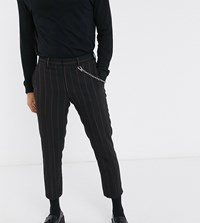Heart And Dagger Brown Striped Trousers Black