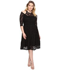 Kiyonna Audrey Lace Dress Black Noir Women's Dress