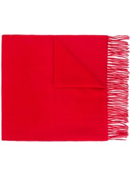 N.Peal Large Woven Scarf Red