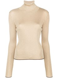 Marco De Vincenzo Turtle Neck Knitted Jumper Metallic