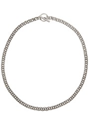Saint Laurent Silver Tone Chain Necklace