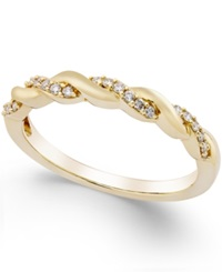 No Vendor Diamond Twisted Band 1 8 Ct. T.W. In 14K Gold Yellow Gold
