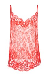 Givenchy Flower Lace Camisole Red