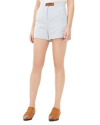 Sandro Party High Rise Shorts Blue