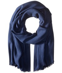 Love Quotes Rayon Eyelash Scarf Peacoat Scarves Blue