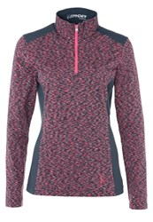 Spyder Bocca Long Sleeved Top Depth Bryte Pink White Anthracite