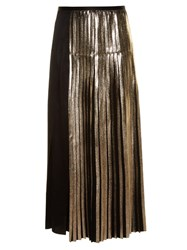 Stella Mccartney Bi Colour Pleated Satin Skirt Black Multi