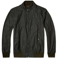 Fred Perry Reissues Waxed Harrington Jacket Hunting Green