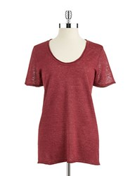 Lord And Taylor Linen Pullover Zinfandel