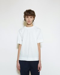 Marni Back Tie T Shirt Lily White