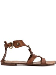 Silvano Sassetti Gladiator Sandals Brown