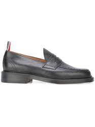 Thom Browne Contrast Pull Tab Loafers Black