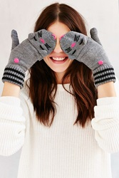 Urban Outfitters Kitsch Animal Convertible Glove Black Cat