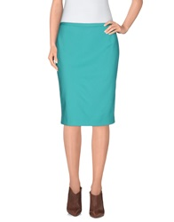 Elie Tahari Knee Length Skirts Turquoise