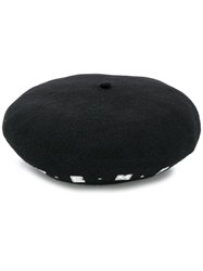 Emporio Armani Embroidered Logo Beret Black