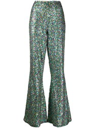 Essentiel Antwerp Flared Sequin Embellished Trousers 60