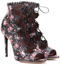 Tabitha Simmons Farraday Printed Leather Sandals Black