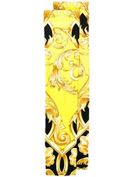 Versace Baroque Print Long Socks Yellow
