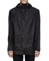 Rains Black Waterproof Jacket