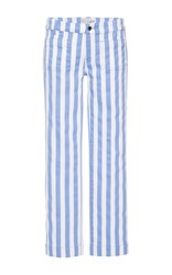Seafarer Striped Lord Jim Mid Rise Cropped Jeans Light Blue