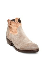 Steve Madden Midnite Suede And Leather Ankle Booties Cognac