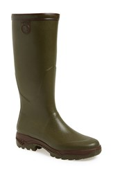Aigle 'Parours 2' Tall Waterproof Rain Boot Men Khaki