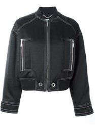 Kenzo Stitch Detailed Bomber Jacket Black