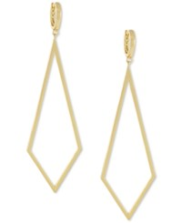 Vince Camuto Gold Tone Diamond Shaped Drop Earrings